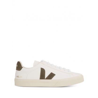White/Khaki Leather Campo ChromeFree Trainers