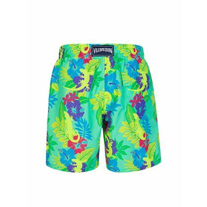 Green Les Geckos Swim Shorts