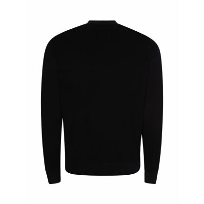 Black Slim-Fit Foil Logo Sweatshirt
