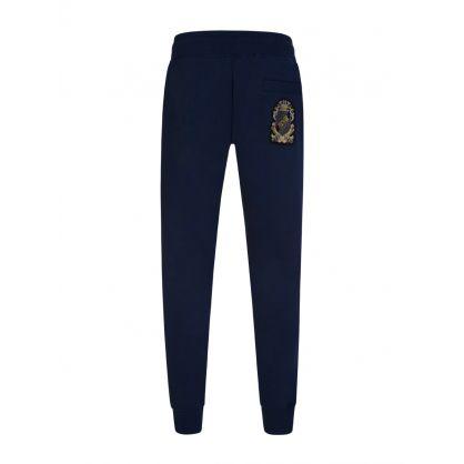 Navy Shield Patch Sweatpants