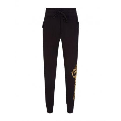Black Embroidered Sweatpants