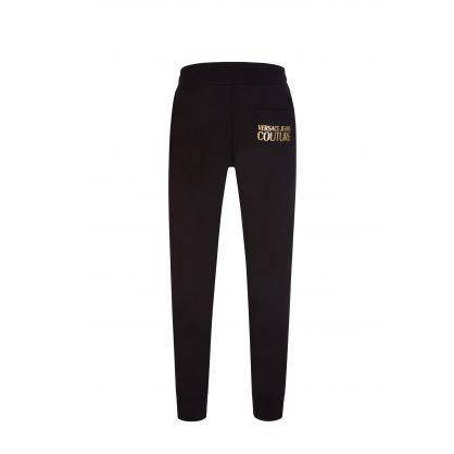 Black Foil Logo Classic Sweatpants