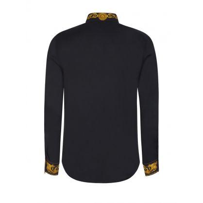 Black Baroque Collar & Cuffs Shirt