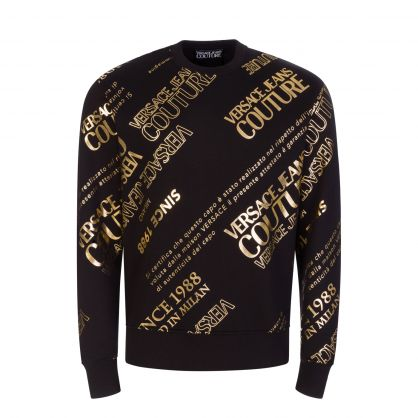 Black/Gold Logo Fleece Sweatshirt