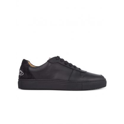 Black Leather Low-Top Apollo Trainers