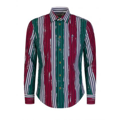 Painted Stripes Slim Fit Shirt