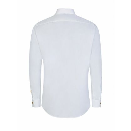 White Two-Button Classic Krall Shirt