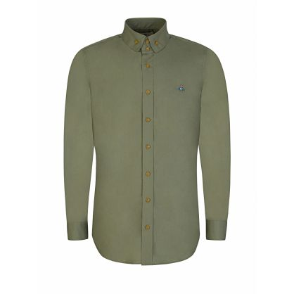 Green Two-Button Krall Shirt