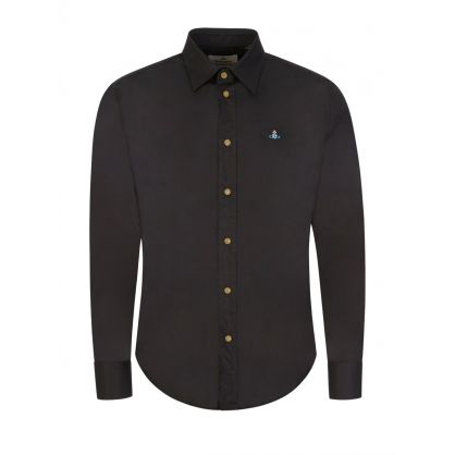 Black Slim-Fit Shirt