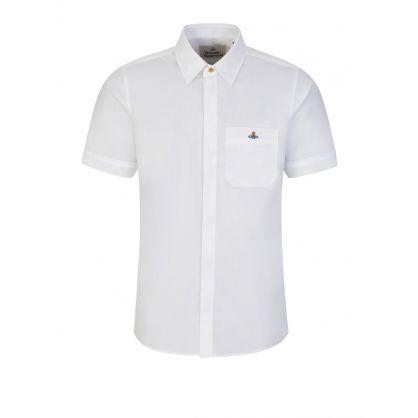 White Classic Short Sleeve Shirt