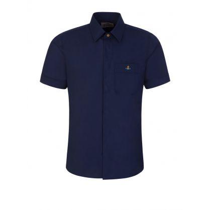 Navy Classic Short Sleeve Shirt