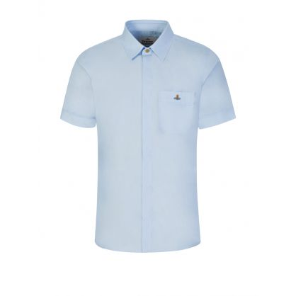 Blue Classic Short Sleeve Shirt