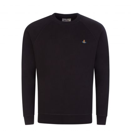 Black Raglan Orb Logo Sweatshirt