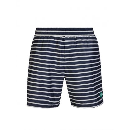 Navy/Off White Roy Swim Shorts