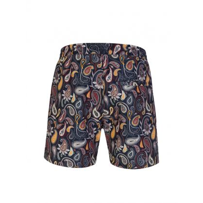 Navy Roy Paisley Swim Shorts