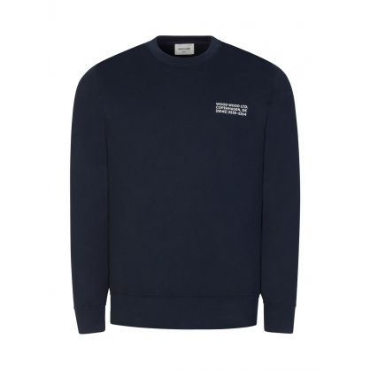 Navy Hugh Info Sweatshirt