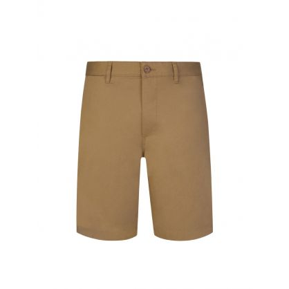 Khaki Beige Jonathan Light Twill Shorts