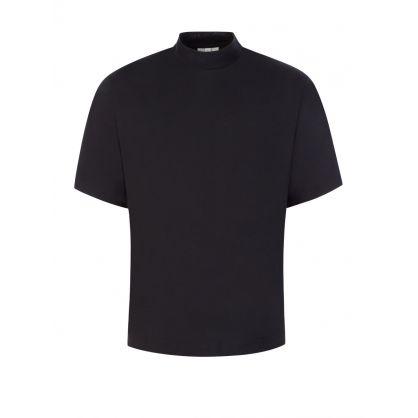 Black Mock Neck T-Shirt