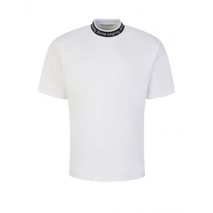 White Logo Binding T-Shirt