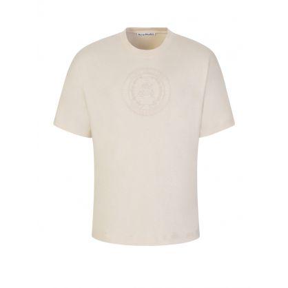 Beige Embroidered Crest T-Shirt