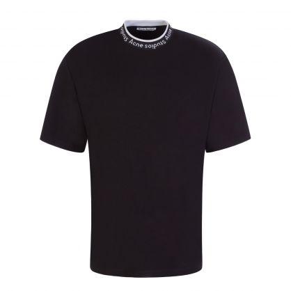 Black Logo Collar T-Shirt