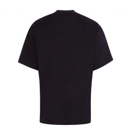 Black Printed Artwork T-Shirt