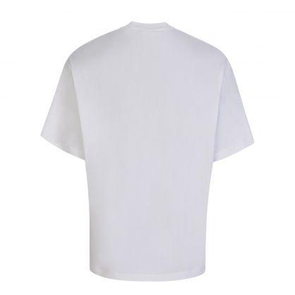 White Printed Artwork T-Shirt