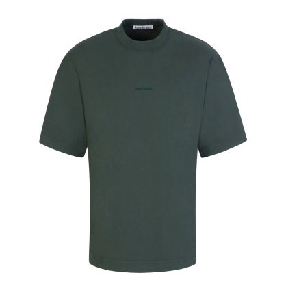 Green Printed Logo T-Shirt