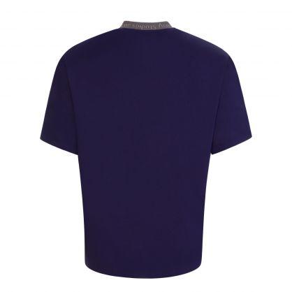 Indigo Logo Collar T-Shirt