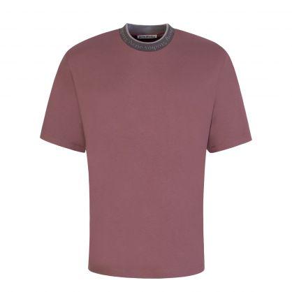Mauve Logo Collar T-Shirt
