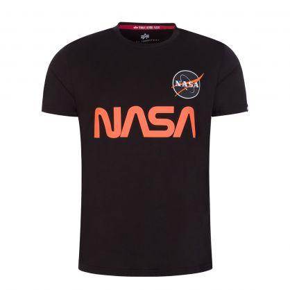 Black Reflective Orange Logo T-Shirt