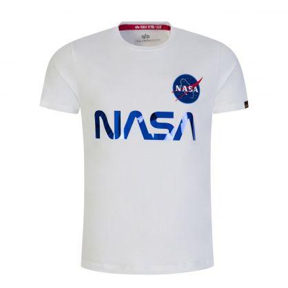 White/Blue Rainbow Reflective NASA T-Shirt