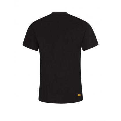 Black Two-Tone Bubble T-Shirt