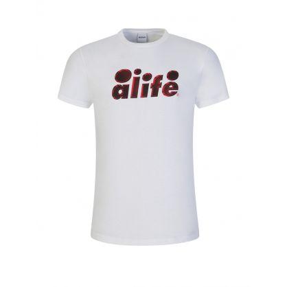 White Two-Tone Bubble T-Shirt