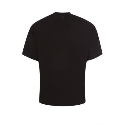 Black Embroidered Heavy T-Shirt