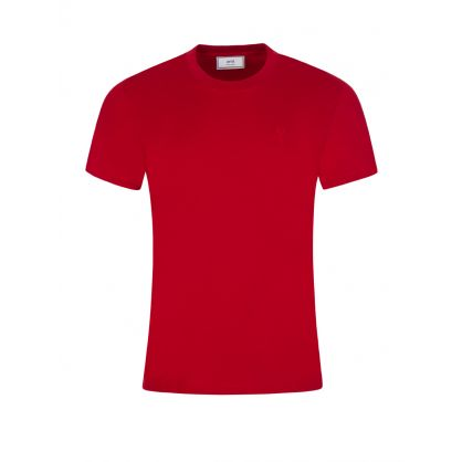 AMI De Coeur Red Cotton T-Shirt