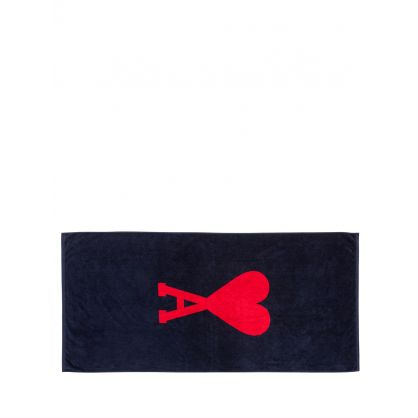 AMI Navy/Red AMI De Coeur Beach Towel