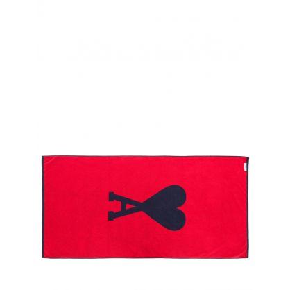 Navy/Red Ami de Coeur Beach Towel