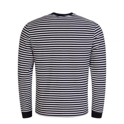 Black/White Long-Sleeve Rouge Bee Bird T-Shirt