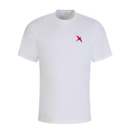 White Rouge Bee Bird T-Shirt