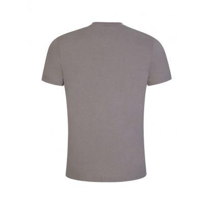 Grey Flocked Logo Athleisure T-Shirt