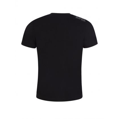 Black Athleisure Glittery Logo T-Shirt