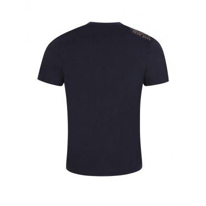 Navy Logo Athleisure T-Shirt