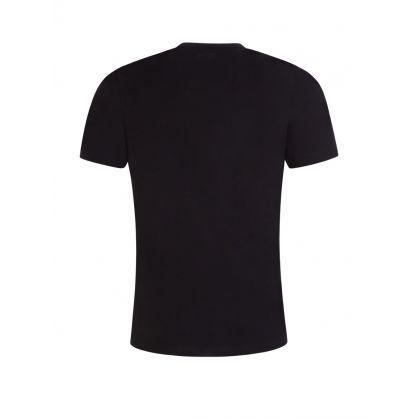 Black Athleisure Rhinestone Logo T-Shirt