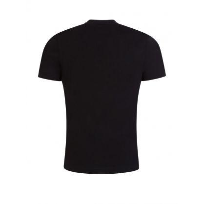 Black Athleisure Photographic-Print Logo T-Shirt