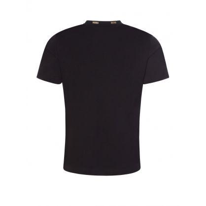 Black Athleisure Gold Logo T-Shirt