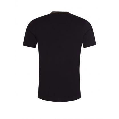 Black Gold-Effect Logo T-Shirt
