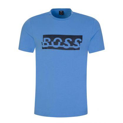 Blue Stretch Cotton T-Shirt