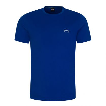 Blue Curved T-Shirt