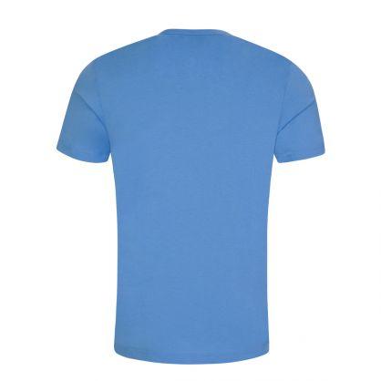 Bright Blue Curved Logo T-Shirt